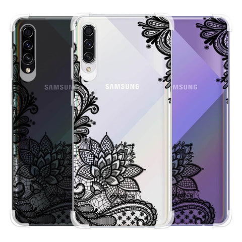 Floral Pattern B/W 1 Soft Flex Tpu Case For Samsung Galaxy A50s