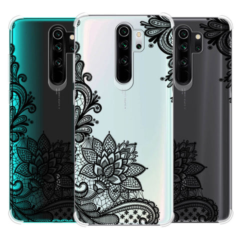 Floral Pattern B/W 1 Soft Flex Tpu Case For Redmi Note 8 Pro