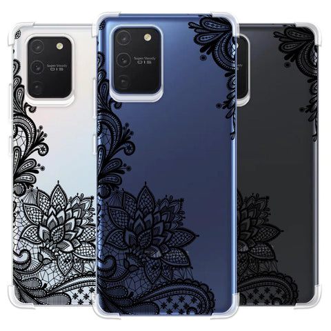 Floral Pattern B/W 1 Soft Flex Tpu Case For Samsung Galaxy S10 Lite