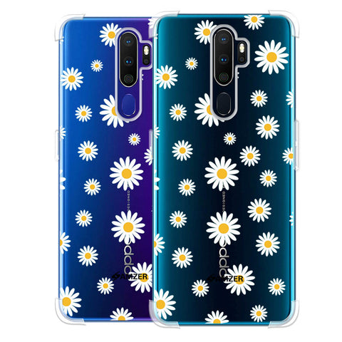 White Daisies Soft Flex Tpu Case For Oppo A9 2020