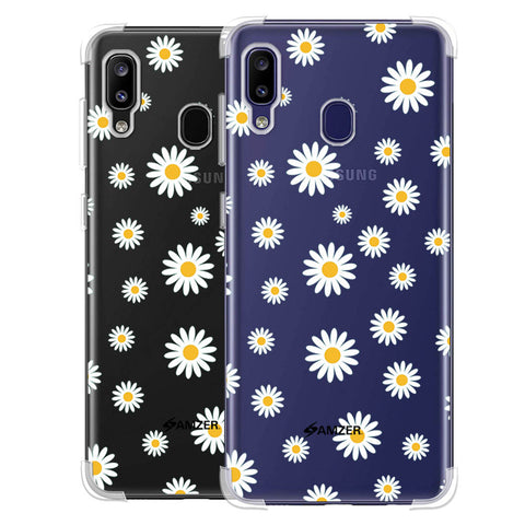 White Daisies Soft Flex Tpu Case For Samsung Galaxy M10s
