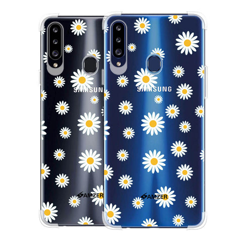 White Daisies Soft Flex Tpu Case For Samsung Galaxy A20s
