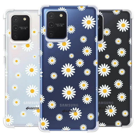 White Daisies Soft Flex Tpu Case For Samsung Galaxy S10 Lite