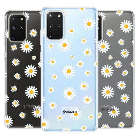 White Daisies Soft Flex Tpu Case For Samsung Galaxy S20+