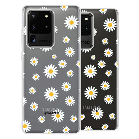 White Daisies Soft Flex Tpu Case For Samsung Galaxy S20 Ultra