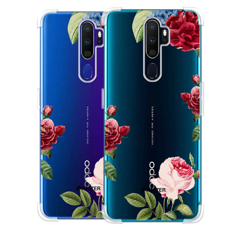 Red/Pink Roses Soft Flex Tpu Case For Oppo A9 2020