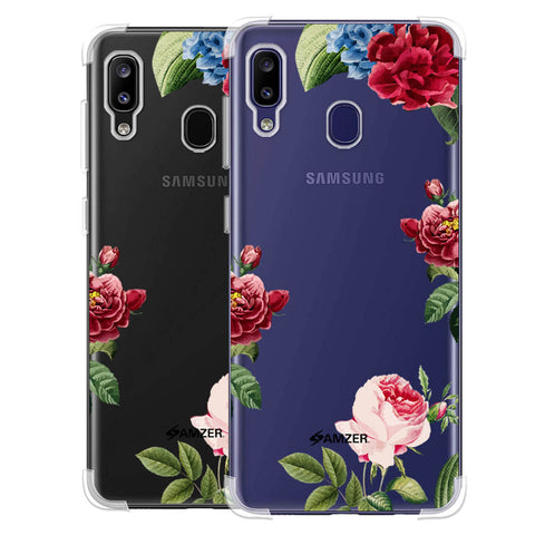 Red/Pink Roses Soft Flex Tpu Case For Samsung Galaxy M10s