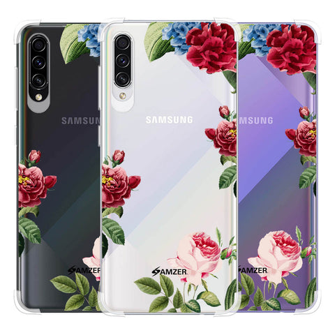 Red/Pink Roses Soft Flex Tpu Case For Samsung Galaxy A50s