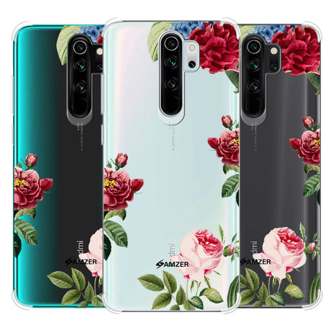 Red/Pink Roses Soft Flex Tpu Case For Redmi Note 8 Pro