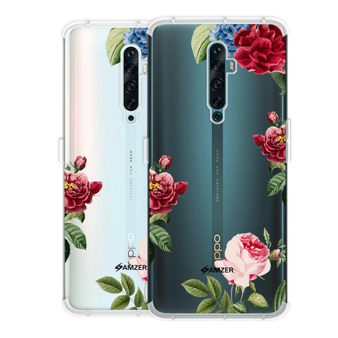 Red/Pink Roses Soft Flex Tpu Case For Oppo Reno2 F