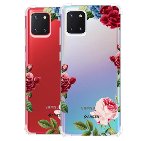Red/Pink Roses Soft Flex Tpu Case For Samsung Galaxy Note10 Lite
