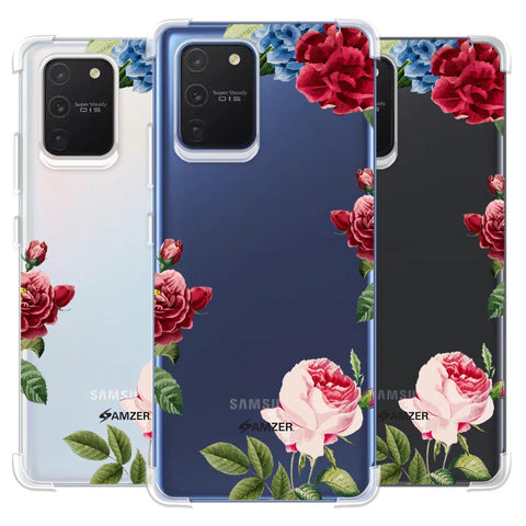 Red/Pink Roses Soft Flex Tpu Case For Samsung Galaxy S10 Lite
