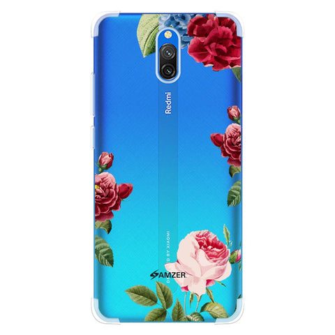 Red/Pink Roses Soft Flex Tpu Case For Redmi 8A Dual