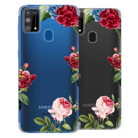 Red/Pink Roses Soft Flex Tpu Case For Samsung Galaxy M31