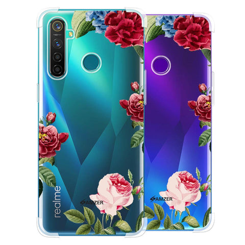 Red/Pink Roses Soft Flex Tpu Case For Realme 5 Pro