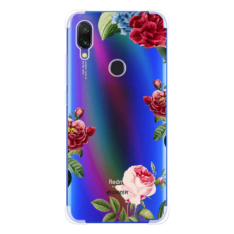 Red/Pink Roses Soft Flex Tpu Case For Redmi Y3