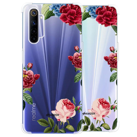 Red/Pink Roses Soft Flex Tpu Case For Realme 6