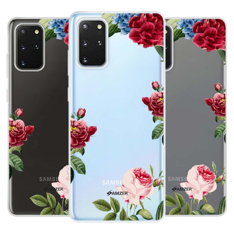 Red/Pink Roses Soft Flex Tpu Case For Samsung Galaxy S20+