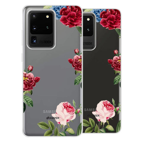 Red/Pink Roses Soft Flex Tpu Case For Samsung Galaxy S20 Ultra