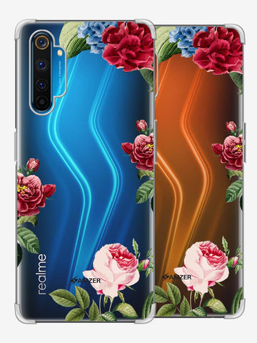 Red/Pink Roses Soft Flex Tpu Case For Realme 6 Pro
