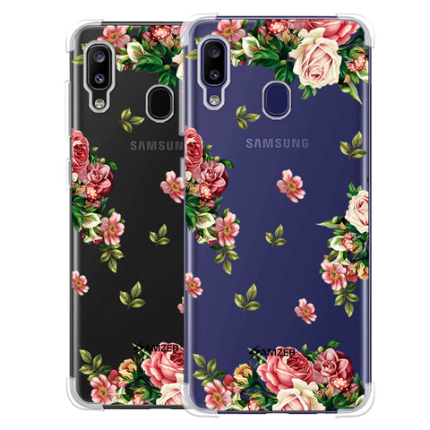 Romantic Antique Pink Soft Flex Tpu Case For Samsung Galaxy M10s