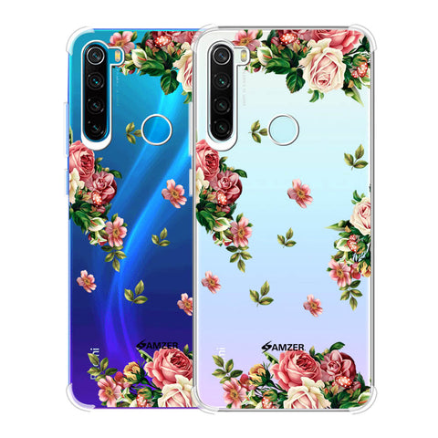 Romantic Antique Pink Soft Flex Tpu Case For Redmi Note 8