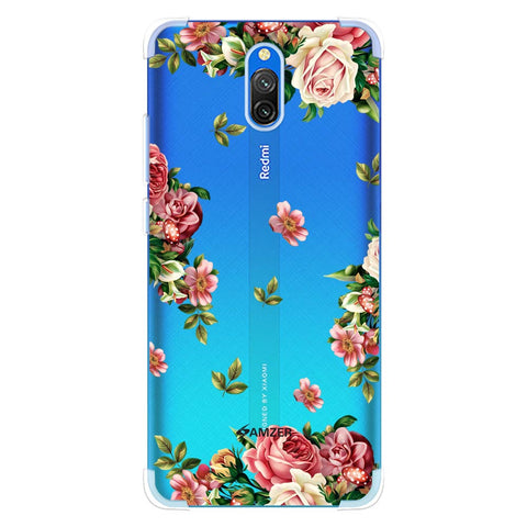 Romantic Antique Pink Soft Flex Tpu Case For Redmi 8A Dual
