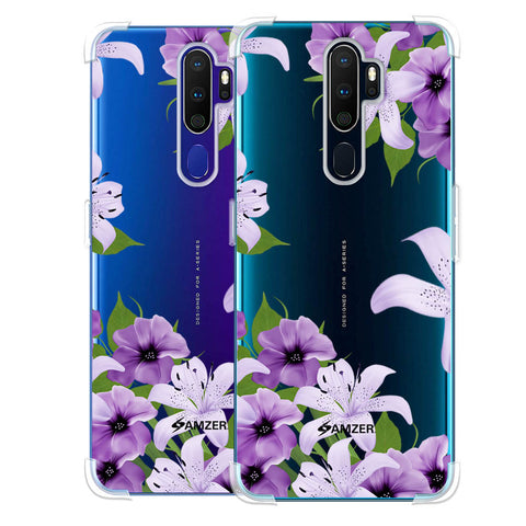 Purple Lily Soft Flex Tpu Case For Oppo A9 2020