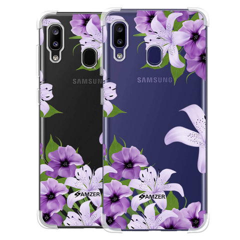 Purple Lily Soft Flex Tpu Case For Samsung Galaxy M10s