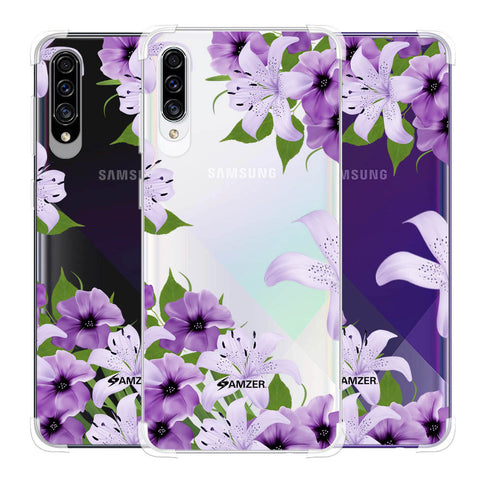 Purple Lily Soft Flex Tpu Case For Samsung Galaxy A30s