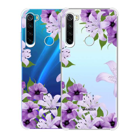 Purple Lily Soft Flex Tpu Case For Redmi Note 8