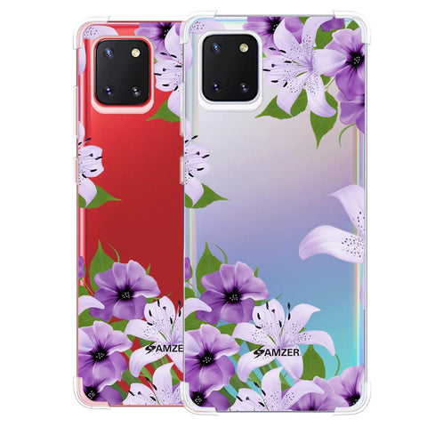 Purple Lily Soft Flex Tpu Case For Samsung Galaxy Note10 Lite