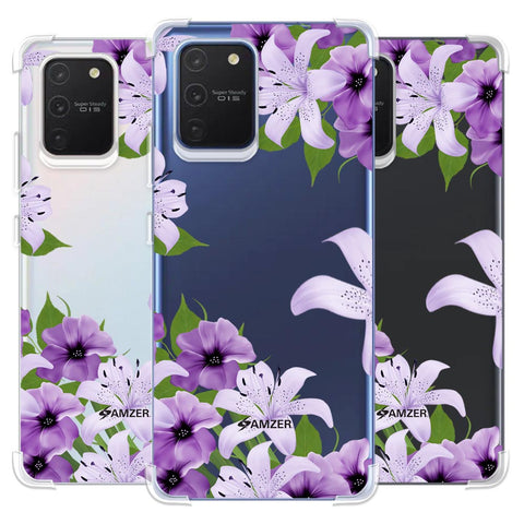 Purple Lily Soft Flex Tpu Case For Samsung Galaxy S10 Lite