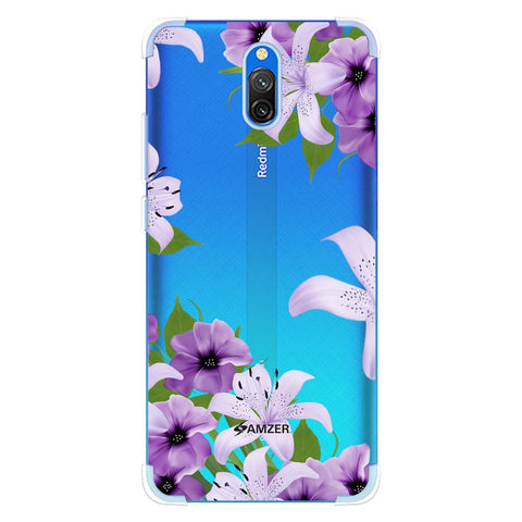 Purple Lily Soft Flex Tpu Case For Redmi 8A Dual