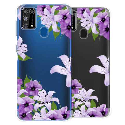 Purple Lily Soft Flex Tpu Case For Samsung Galaxy M31