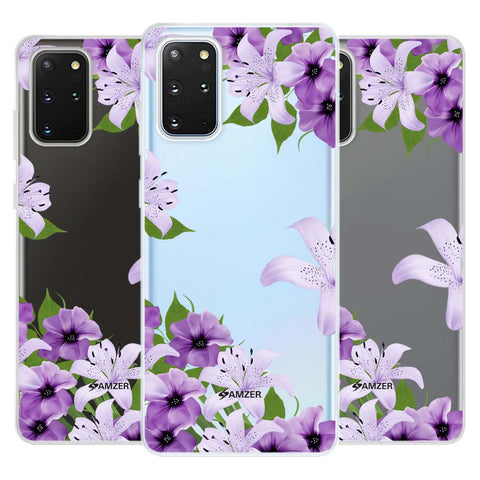 Purple Lily Soft Flex Tpu Case For Samsung Galaxy S20+
