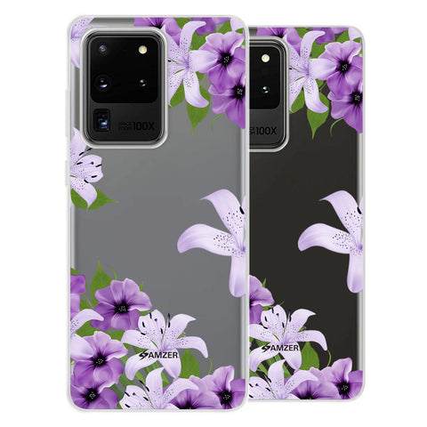 Purple Lily Soft Flex Tpu Case For Samsung Galaxy S20 Ultra