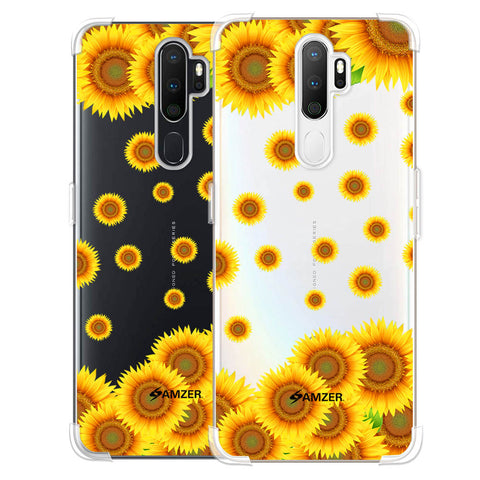 Sunflower Soft Flex Tpu Case For Oppo A5 2020