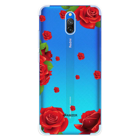 Valentines Rose Soft Flex Tpu Case For Redmi 8A Dual