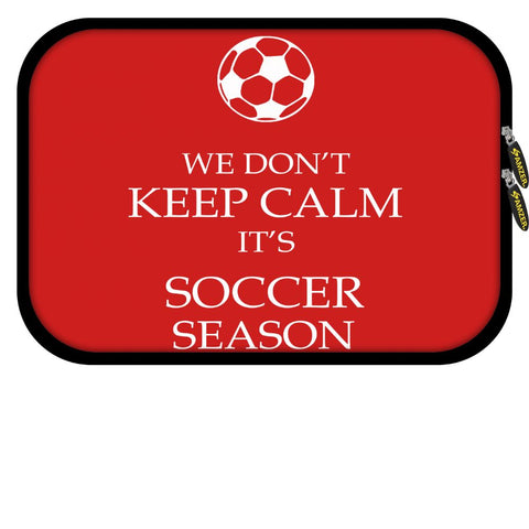 15 inch Neoprene: Soccer - We Don't Keep Calm - Green Grass