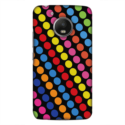 Funky Dot Stripes Slim Hard Shell Case For Motorola Moto G5