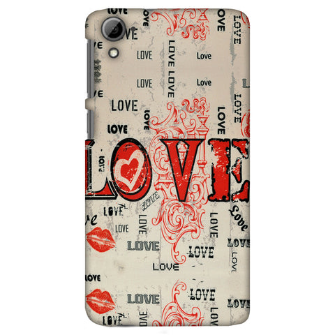 Enchanted Love Slim Hard Shell Case For HTC Desire 826