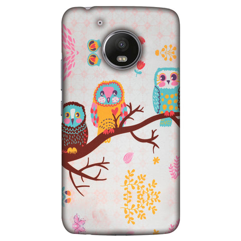 Owls On Branch Slim Hard Shell Case For Motorola Moto G5