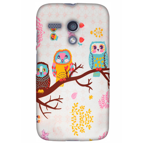 Owls On Branch Slim Hard Shell Case For Motorola Moto G