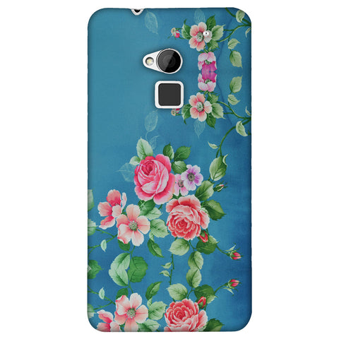 Rose Print Provencal Slim Hard Shell Case For HTC One Max