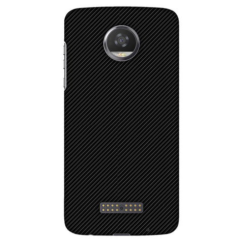 Carbon Black With Texture Slim Hard Shell Case For Motorola Moto Z2 Play