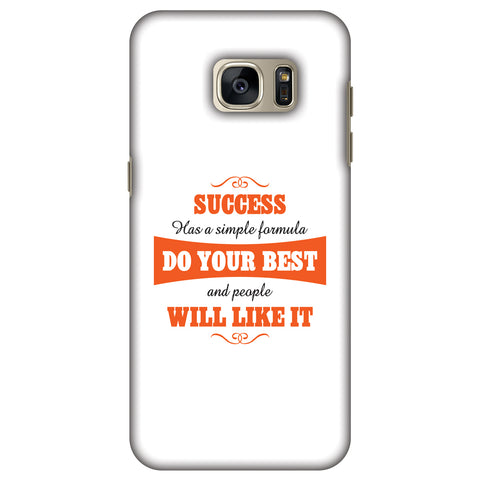 Success Do Your Best Slim Hard Shell Case For Samsung GALAXY S7 Edge - AMZER Print