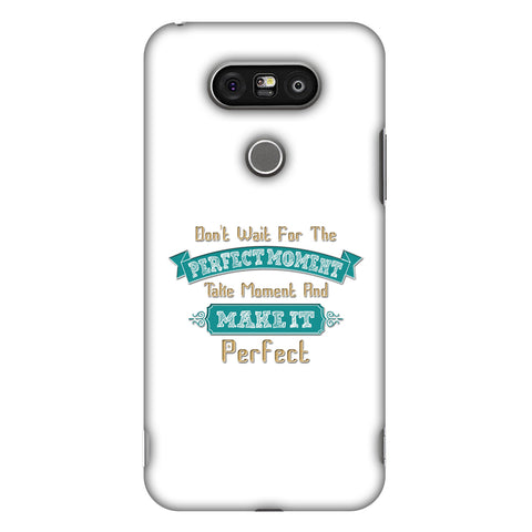 Make Perfect Moment Slim Hard Shell Case For LG G5 - AMZER Print