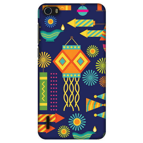 Diwali Galore Slim Hard Shell Case For Huawei Honor 6 - AMZER Print