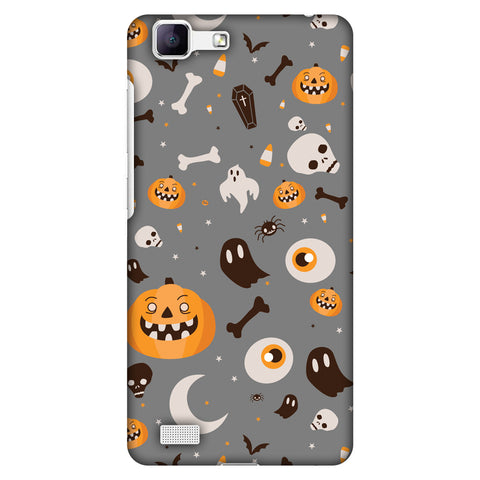 Freaky Grey Slim Hard Shell Case For Vivo Y35-V1 - AMZER  Print